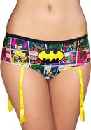 Batman Comic Strip Panty W/ Garter-large