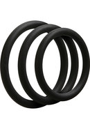 Optimale 3 Silicone C-ring Set Thin Black