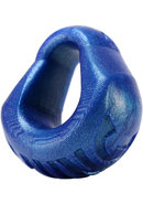Hung Silicone Padded Cockring Blueballs 3 Inch Diameter