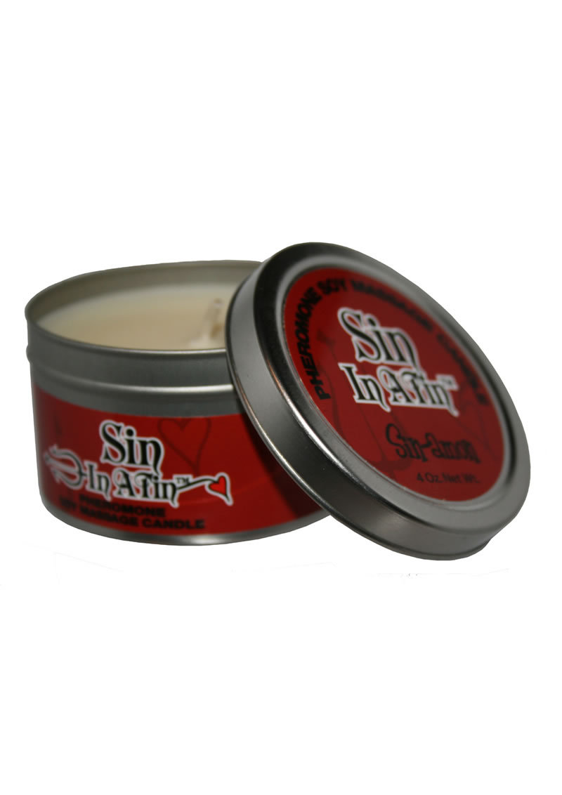 Sin In A Tin Candle With Pheromones Sinamon 4 Ounce