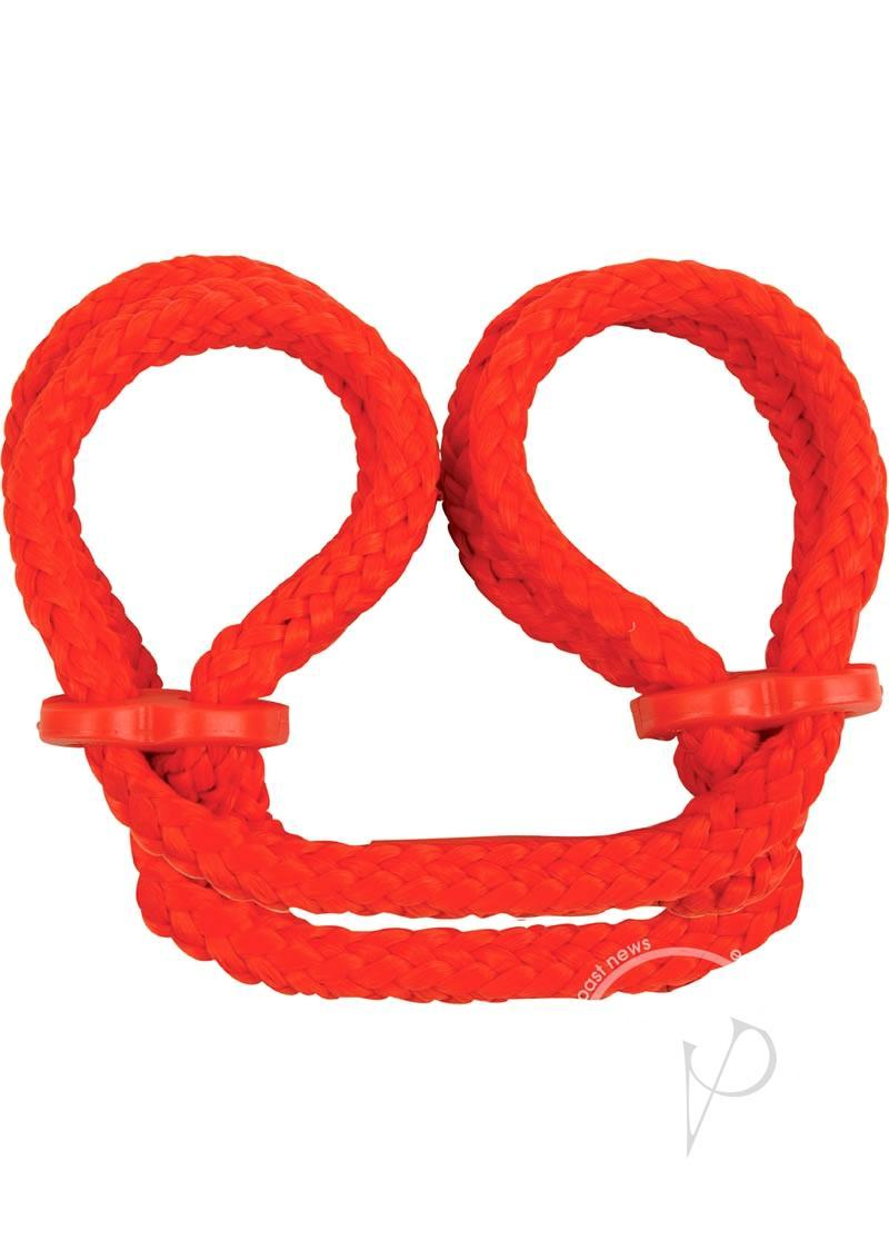 japanese silk love rope handcuffs purple