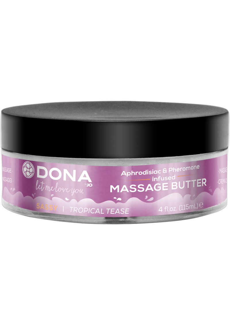 Dona Aphrodisiac And Pheromone Infused Massage Butter Sassy Tropical Tease 4 Ounce