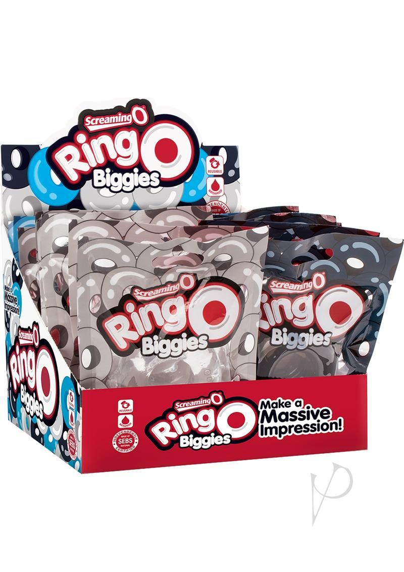 Ringo Biggies Cock Rings Assorted 18 Piece Counter Display